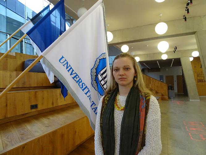 Anna-Olga Luga (31) ist Russin und unterricht Estnisch in Narva.