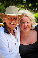 Bobby Rydell and his wife, Linda Hoffman, poses at La Playa Beach Resort along Gulf of Mexico in Naples, Florida, USA, June 13, 2011. Photo by Debi Pittman Wilkey