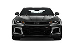 Car photography straight front view of a 2017 Chevrolet Camaro ZL1 2 Door Coupe Front View