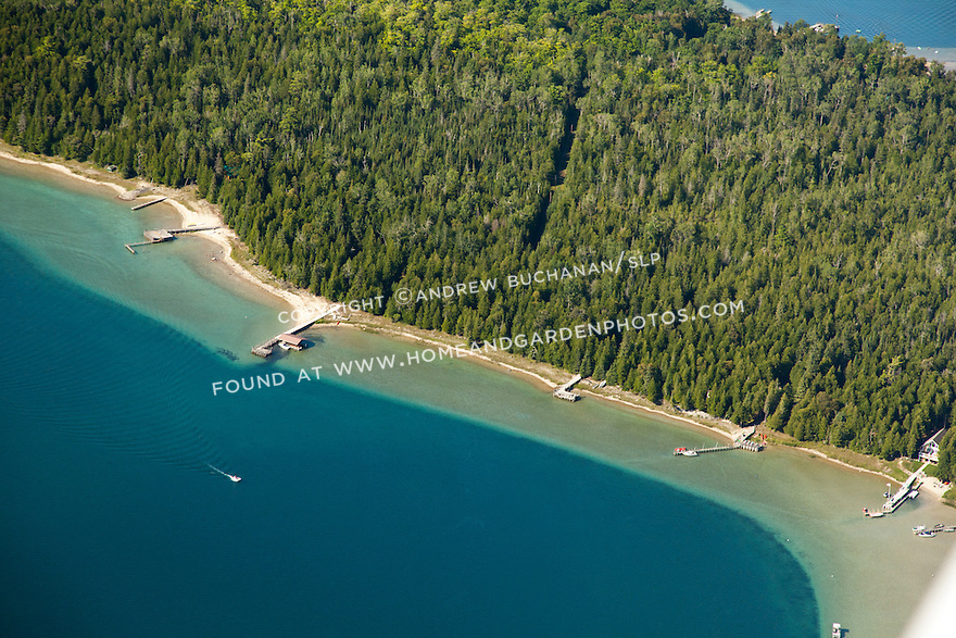 shoreline of Marquette Island near Hessel, MI