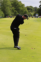 Scott Henry (SCO) plays his 3rd shot on the 17th hole during Sunday's Final Round of the Northern Ireland Open 2018 presented by Modest Golf held at Galgorm Castle Golf Club, Ballymena, Northern Ireland. 19th August 2018.<br /> Picture: Eoin Clarke | Golffile<br /> <br /> <br /> All photos usage must carry mandatory copyright credit (&copy; Golffile | Eoin Clarke)