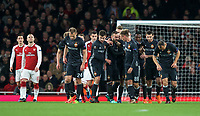 Celebrations after Aleksandr Golovin of CSKA Moscow scores a goal during the UEFA Europa League QF 1st leg match between Arsenal and CSKA Moscow  at the Emirates Stadium, London, England on 5 April 2018. Photo by Andrew Aleksiejczuk / PRiME Media Images.