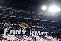 Real Madrid fans  during UEFA Champions League match, groups between Real Madrid and Galatasaray SK at Santiago Bernabeu Stadium in Madrid, Spain. November, Wednesday 06, 2019.(ALTERPHOTOS/Manu R.B.)<br /> Champions League 2019/2020  <br /> Real Madrid - Galatasaray<br /> Foto Alterphotos / Insidefoto <br /> ITALY ONLY