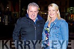 Liam Diggins and Susan Whyte from Ballyduff enjoying the evening at the Fiddler on Saturday.