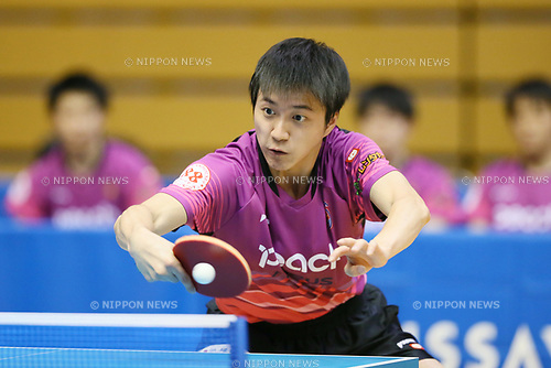 Chaing Hung-chieh, <br /> JUNE 7, 2017 - Table Tennis : <br /> Japan Table Tennis League 2017 <br /> Men's 2nd division <br /> at Matsue General Gymnasium, Shimane, Japan. <br /> (Photo by YUTAKA/AFLO)