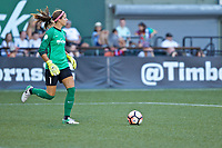 Portland, OR - Saturday July 22, 2017: Stephanie Labbé during a regular season National Women's Soccer League (NWSL) match between the Portland Thorns FC and the Washington Spirit at Providence Park.