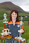 Top Player<br /> ---------------<br /> Annette Walsh from Cloghane holds up some of her trophys from her playing years at her home last Saturday morning.