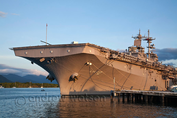 The USS Essex moored in Trinity Inlet.  Cairns, Queensland, Australia