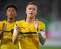 20.08.2018, Football DFB Pokal 2018/2019, 1. round, SpVgg Greuther Fuerth - Borussia Dortmund, Sportpark Ronhof in Fuerth. celebration  Siegreichen Dortmunder   dem Sieg in Verlaengerung. Marco Reus (Dortmund) <br />