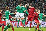 01.12.2018, Weser Stadion, Bremen, GER, 1.FBL, Werder Bremen vs FC Bayern Muenchen, <br /> <br /> DFL REGULATIONS PROHIBIT ANY USE OF PHOTOGRAPHS AS IMAGE SEQUENCES AND/OR QUASI-VIDEO.<br /> <br />  im Bild<br /> <br /> kopfball Sebastian Langkamp (Werder Bremen #15)<br /> Claudio Pizarro (Werder Bremen #04)<br /> Niklas S&uuml;le / Suele (FC Bayern Muenchen #04)<br /> <br /> Foto &copy; nordphoto / Kokenge