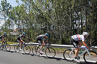Ian Stannard (r) and Christopher Froome (2r) leading the peloton during the stage of La Vuelta 2012 between Vilagarcia de Arousa and Mirador de Erazo (Dumbria).August 30,2012. (ALTERPHOTOS/Paola Otero) /NortePhoto.com<br />