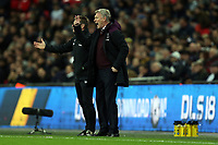 West Ham United manager David Moyes and his assistant Stuart Pearce during Tottenham Hotspur vs West Ham United, Premier League Football at Wembley Stadium on 4th January 2018