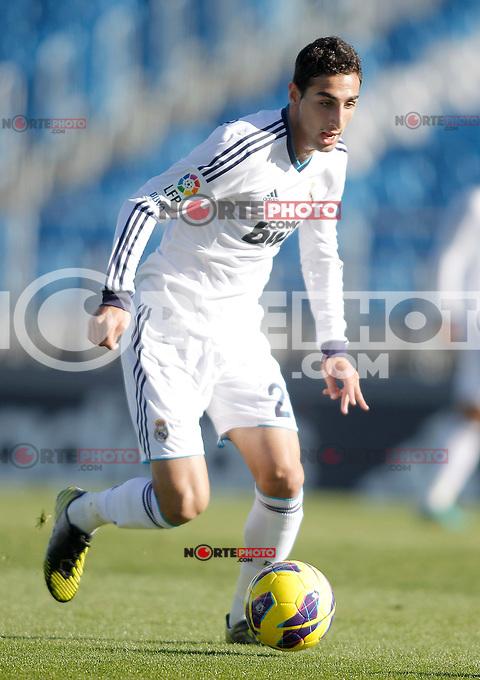 Real Madrid Castilla's Jose Rodriguez during La Liga match. January 13, 2013. (ALTERPHOTOS/Alvaro Hernandez)