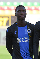 20191022 – OOSTENDE , BELGIUM : Brugge's Wilkims Ochieng pictured during a soccer game between Club Brugge KV and Paris Saint-Germain ( PSG )  on the third matchday of the UEFA Youth League – Champions League season 2019-2020 , thuesday  22 th October 2019 at the Versluys Arena in Oostende  , Belgium  .  PHOTO SPORTPIX.BE | DAVID CATRY