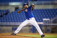 GCL Blue Jays relief pitcher Orlando Pascual (75) during the second game of a doubleheader against the GCL Phillies on August 15, 2016 at Florida Auto Exchange Stadium in Dunedin, Florida.  GCL Phillies defeated the GCL Blue Jays 4-0.  (Mike Janes/Four Seam Images)