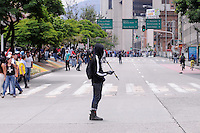 MEDELLIN - COLOMBIA - 01-05-2014: Manifestantes durante el día del Trabajo. Protesters during Labor Day. /Photo: VizzorImage / Luis Rios / Str.