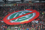 09.09.2017, WWK-Arena, Augsburg, GER, 1.FBL, FC Augsburg vs 1.FC Koeln, im Bild<br /> <br /> Fanproteste gegen den DFB<br /> <br /> Foto &copy; nordphoto / Schreyer