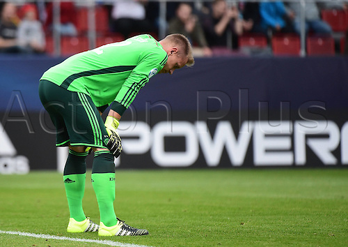 27.06.2015. Andruv Stadium, Olomouc, Czech Republic. U21 European championships, semi-final. Portugal versus Germany.  Marc-Andre ter Stegen (Germany)  frustrated after the game which they lost 5-0