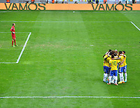 BRASILIA, DF, 07.09.2013 - 07.09.2013 - BRASIL X AUSTRÁLIA/AMISTOSO: Comemoração durante partida amistosa entre Brasil x Austrália, no Estádio Nacional Mané Garrincha.(Foto: Ricardo Botelho / Brazil Photo Press).