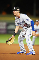 Glendale Desert Dogs Cody Bellinger (21), of the Los Angeles Dodgers organization, during a game against the Scottsdale Scorpions on October 14, 2016 at Scottsdale Stadium in Scottsdale, Arizona.  Scottsdale defeated Glendale 8-7.  (Mike Janes/Four Seam Images)