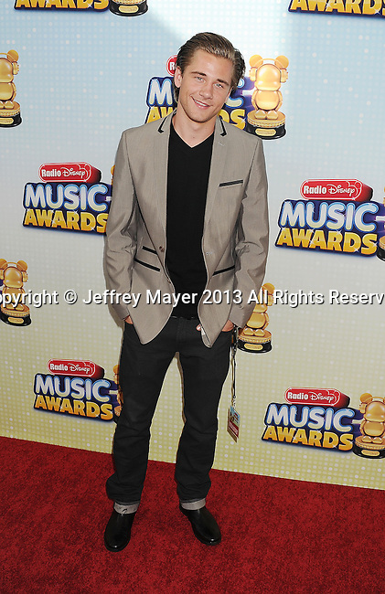 LOS ANGELES, CA- APRIL 27: Actor Luke Benward arrives at the 2013 Radio Disney Music Awards at Nokia Theatre L.A. Live on April 27, 2013 in Los Angeles, California.