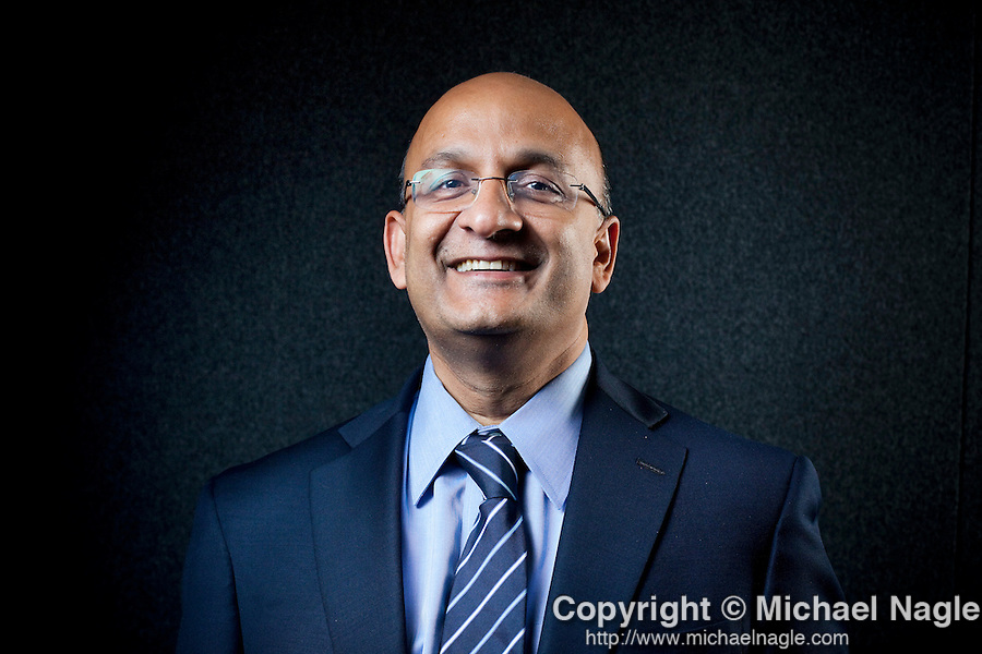 NEW YORK --  SEPTEMBER 15, 2011:Nitin Nohria, the new head of Harvard Business School, poses for a portrait on September 15, 2011 in New York City.  (PHOTOGRAPH BY MICHAEL NAGLE)