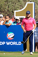 Tyrrell Hatton (ENG) on the 10th tee during the final round of the DP World Tour Championship, Jumeirah Golf Estates, Dubai, United Arab Emirates. 18/11/2018<br /> Picture: Golffile | Fran Caffrey<br /> <br /> <br /> All photo usage must carry mandatory copyright credit (© Golffile | Fran Caffrey)