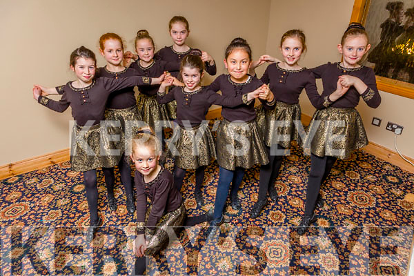 Dancers  representing Kerry in the Irish dancing competition   Ceoil An Gheimridh in the U12's category in January 2016 Pictured  Rose Brosnan, Ella Scanlon, Emma Daly, Maggie Scanlon, Rhianne Zhang, Ella Quirke, Abbie Leahy, Alice Brosnan and Laura Kelly
