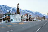 USA, California, Mammoth, The Winnedumah Hotel located on one of the main streets in Independence