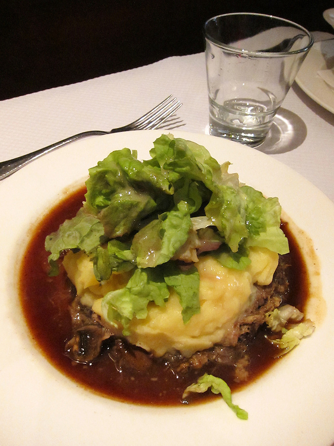 Beef and potatoes for dinner, Paris, France