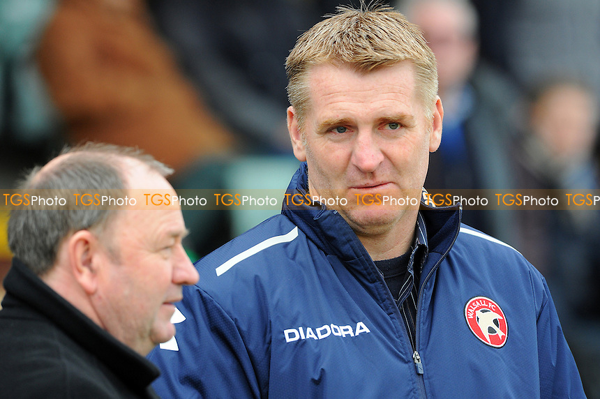Yeovil Town Manager Gary Johnson  and Walsall Manager Dean Smith - Yeovil Town vs Walsall - NPower League One Football at Huish Park, Yeovil, Somerset - 29/03/13 - MANDATORY CREDIT: Denis Murphy/TGSPHOTO - Self billing applies where appropriate - 0845 094 6026 - contact@tgsphoto.co.uk - NO UNPAID USE.