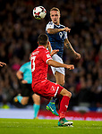 Malta's Zach Muscat and Scotland's Leigh Griffiths compete for the ball during the World Cup Qualifying Group F match at Hampden Park Stadium, Glasgow. Picture date 4th September 2017. Picture credit should read: Craig Watson/Sportimage