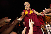 The Dalai Lama gives a public talk at Palais 12 in Brussels - Belgium