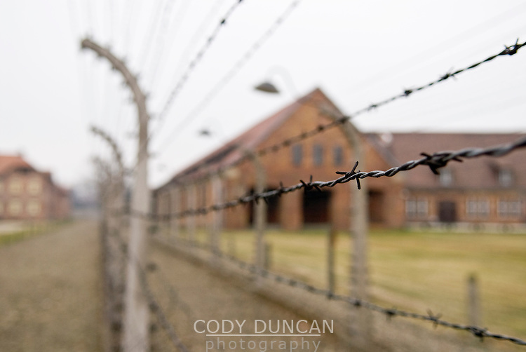 Barbwire fences of Auswitz, Poland
