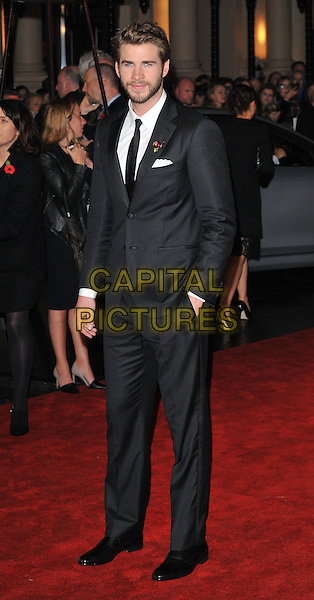 Liam Hemsworth attends the , Odeon Leicester Square, Leicester Square, London, England, UK, on Thursday 05 November 2015. <br /> CAP/CAN<br /> &copy;CAN/Capital Pictures