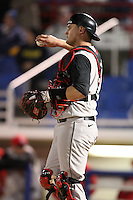 February 26, 2010:  Catcher Joe Witkowski of the St. John's Red Storm during the Big East/Big 10 Challenge at Bright House Field in Clearwater, FL.  Photo By Mike Janes/Four Seam Images