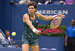 Carla Suarez Navarro plays at the US Open being played on September  3, 2017 at Billy Jean King Ntional Tennis Center in Flushing, Queens, New York.  ©Leslie Billman/EQ