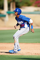 Los Angeles Dodgers minor league outfielder James Baldwin #51 during an instructional league game against the Chicago White Sox at the Camelback Training Complex on October 9, 2012 in Glendale, Arizona. (Mike Janes/Four Seam Images)