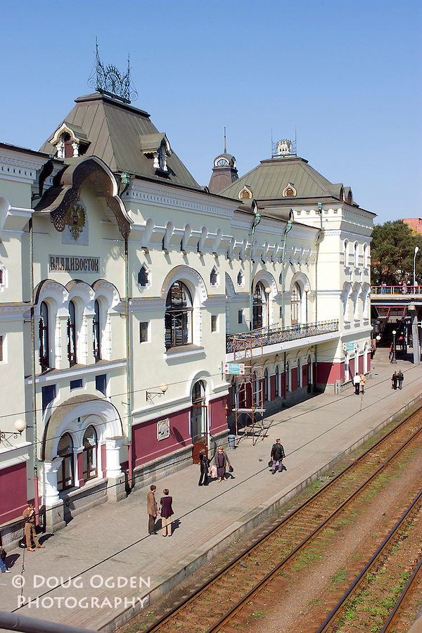 The Vladivostok Train Station, the Eastern end of the Trans-Siberian Railroad, Russia