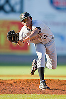 Starting pitcher Ricardo Batista #44 of the Greeneville Astros in action against the Bristol White Sox at Boyce Cox Field July 1, 2010, in Bristol, Tennessee.  Photo by Brian Westerholt / Four Seam Images