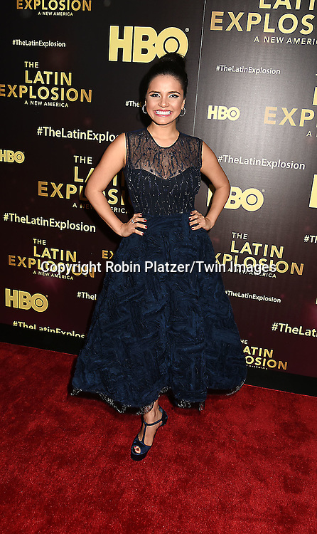 Karen Hoyos attends the HBO premiere of &quot;The Latin Explosion: A New America&quot; on November 10, 2015 at the Hudson Theater in New York City, New York, USA.<br /> <br /> photo by Robin Platzer/Twin Images<br />  <br /> phone number 212-935-0770