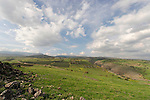 Israel, the Lower Galilee. A view north from Livnim towards Wadi Amud