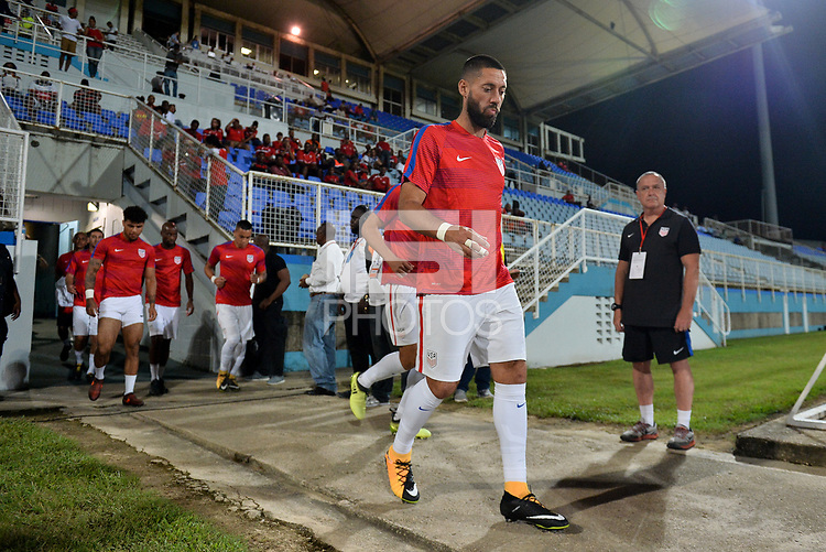 Couva, Trinidad & Tobago - Tuesday Oct. 10, 2017: Clint Dempsey during a 2018 FIFA World Cup Qualifier between the men's national teams of the United States (USA) and Trinidad & Tobago (TRI) at Ato Boldon Stadium.
