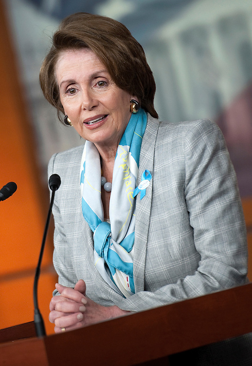 UNITED STATES - MAY 10: House Minority Leader Nancy Pelosi, D-Calif., speaks at her weekly news conference. (Photo by Chris Maddaloni/CQ Roll Call)
