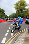 Filippo Ganna (ITA) in action during the Men Elite Individual Time Trial of the UCI World Championships 2019 running 54km from Northallerton to Harrogate, England. 25th September 2019.<br /> Picture: Andy Brady | Cyclefile<br /> <br /> All photos usage must carry mandatory copyright credit (© Cyclefile | Andy Brady)