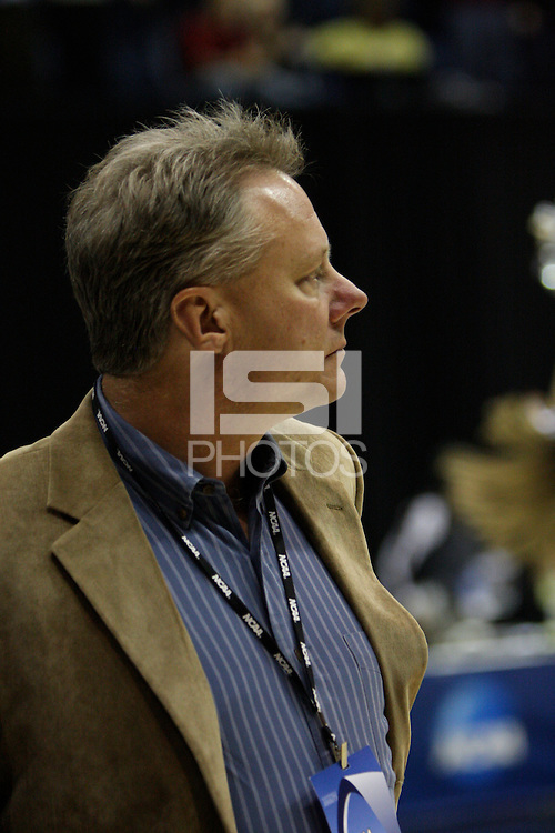 BERKELEY, CA - MARCH 30: Sr. Asst. AD Jim Young during Stanford's 74-53 win against the Iowa State Cyclones on March 30, 2009 at Haas Pavilion in Berkeley, California.