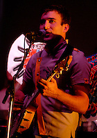 Singer/songwriter Sufjan Stevens (cq) performs during a sold out show at the Lakewood Theater in Dallas, Texas, Wednesday, September, 13, 2006. Originally from Detroit, Stevens has undertaken the large goal of writing an album surrounding themes from all 50 states. He has so far completed two, Illinoise and Michigan.