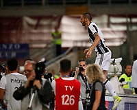 Leonardo Bonucci celebrates after scoring  during the Italian Cup Final  football match between Juventus FC and SS Lazio at  the Olympic stadium in Rome, Italy on the 17th May 2017