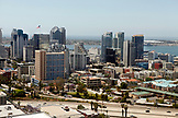 USA, California, San Diego, Downtown San Diego with a view of San Diego Bay