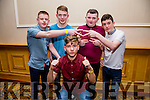 Enjoying the Kerry Youth Club Disco at the Brandon Hotel on Friday were Boki Nikic, Jason O'Shea, James McCarthy, Gearoid Doyle, Cian O'Sullivan from Kenmare youth Club